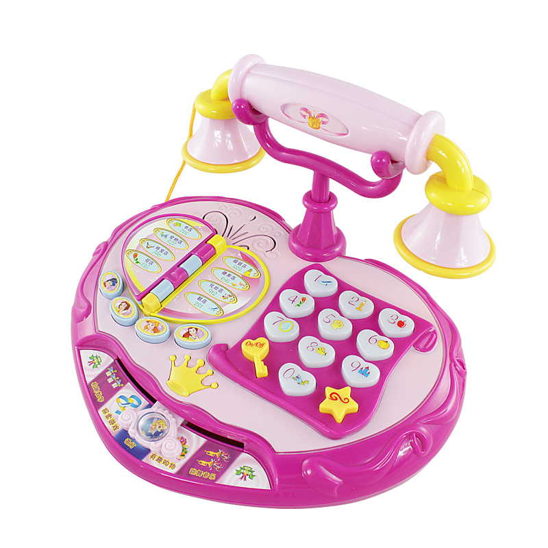 Princess Electronic Baby Phone Toy Kid Music Machine Telephone Toy with Game Educational Learning Toys Birthday Christmas Gift