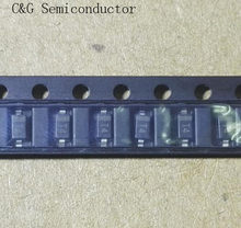100 pces 1206 1n4148w t4 1n4148 in4148 sod-123 diodo de comutação sod123