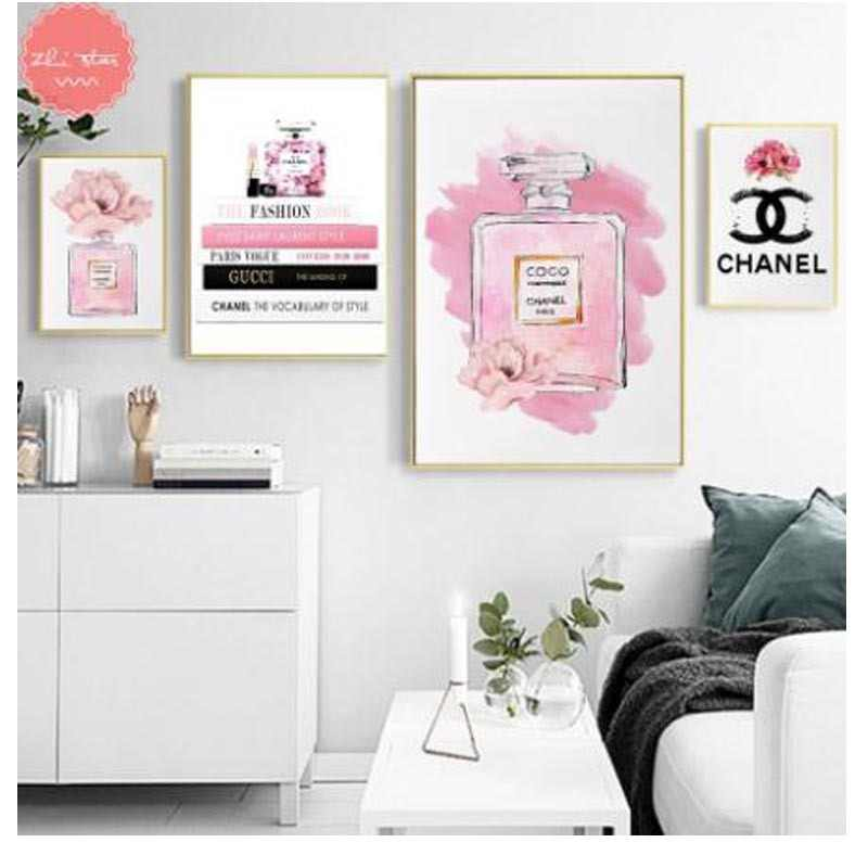 diamond painting Pink Perfume Bottle coco Fashion diamond embroidery sale cross-stitch christmas decorations for home