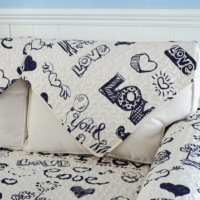 1 Piece Europe Style Cartoon Sofa Cover Cotton Sofa Towel Soft Slip  Resistant Sofa Seat Couch
