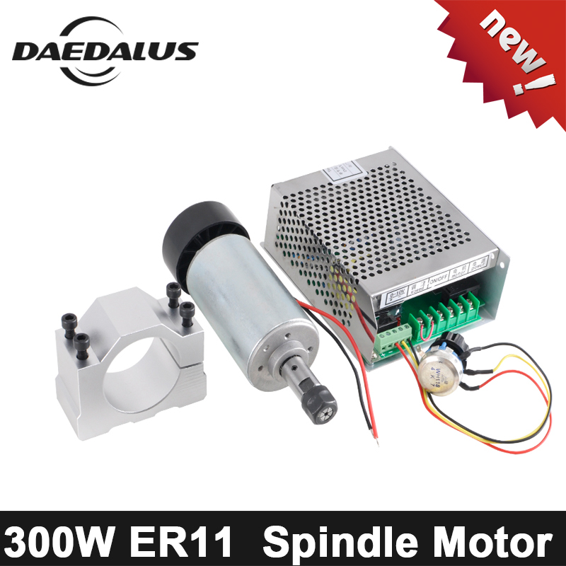 300W CNC Spindle Motor ER11 Air Cooled Spindle CNC Router + Mach3 Power Supply +52mm Clamp For Engraver Milling Machine300W CNC Spindle Motor ER11 Air Cooled Spindle CNC Router + Mach3 Power Supply +52mm Clamp For Engraver Milling Machine