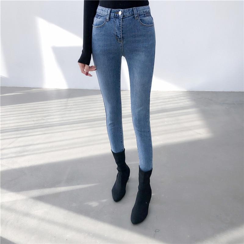 9eff07880e2 Vaqueros-de-corte-Slim-para-las-mujeres-de-cintura-alta-vaqueros-ajustados- de-mujer-denim-Pantalones.jpg