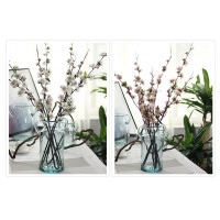 2 Pcs Lot Artificial Flower Small Sakura Silk Flowers Spray Cherry Blossom Home Decor Wedding Decoration