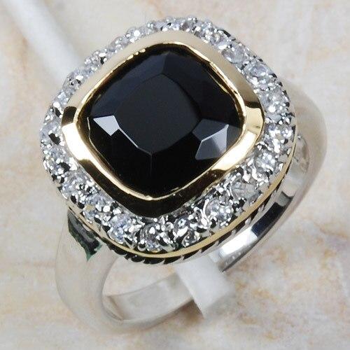 Wholesale & Retail Brand New BLACK ONYX 925 Sterling Silver Women Ring Free Shipping R445 USA size 6 7 8 9 10 кабельный щит brand new f98 85 58 33 sbd7781
