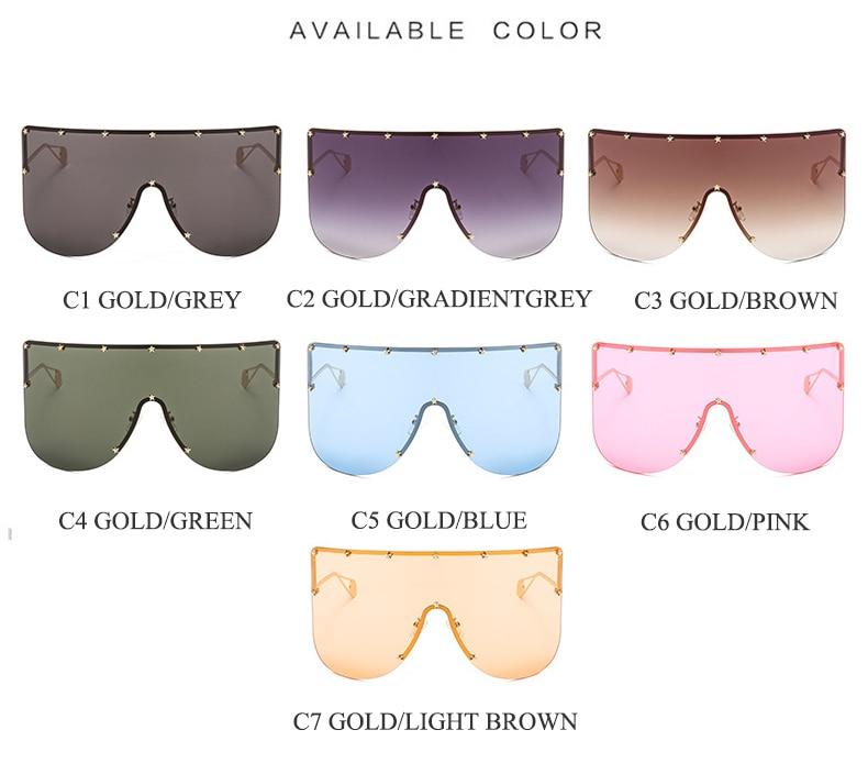 e19617bc800e0 ALOZ MICC Women New Oversized Sunglasses Men 2019 Brand Designer Half Frame  Sunglasses Women Windproof Visor Goggles Eyewear Q94