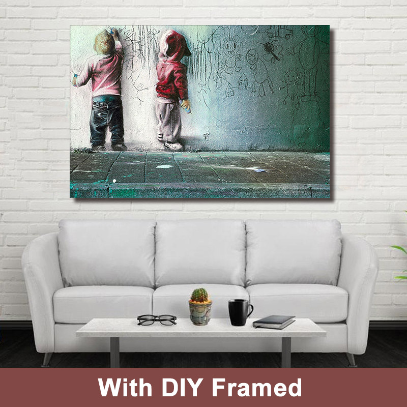 Diy Framed Canvas Painting Busky Paint Portrait Wall Art Canvas Painting Pictures For Living Room Baby Room Home Decor Picture For Living Room Painting Picturewall Art Aliexpress