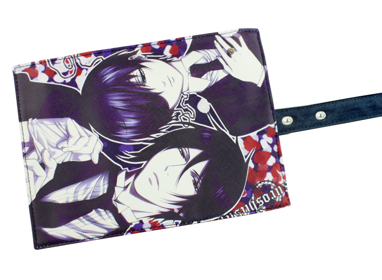 Anime Black Bulter Students Canvas Stationery Ciel Grell Children Convenient Storage bag