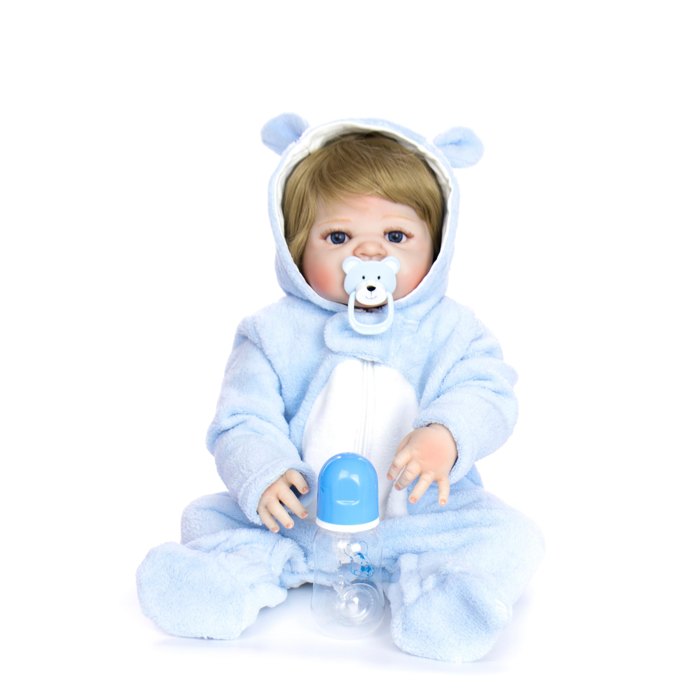 KEIUMI 23 ''realistyczne pełna silikonowe ciała Reborn Baby Boy piękne złote włosy Baby Doll zabawki dla małych dzieci kąpać się prezenty w Lalki od Zabawki i hobby na  Grupa 3
