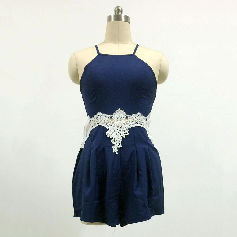 10d2d1fc49f5 Fashion Sexy Women Floral Lace Sleeveless Clothes Shorts Jumpsuit Strap  Romper -in Rompers from Women's Clothing on Aliexpress.com | Alibaba Group