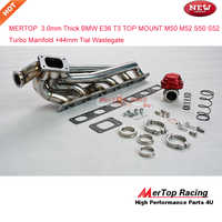 MERTOP RACE  3.0mm Thick  E36 T3  M50 M52 S50 S52 TOP MOUNT Manifold 1992- 98 +44mm  V band Wastegate