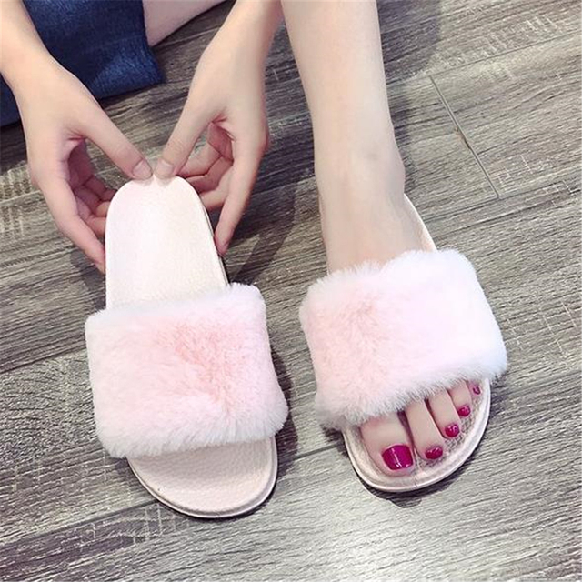 3948c8838 Female summer 2018 new flat-soled flat-bottomed muffin soft-soles sweet  hairy