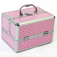 Makeup Train Case Professional Cosmetic Box With Adjustable Dividers 4 Trays And Lock Toolbox Box Cosmetic Case Storage Bags
