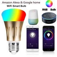 JCKEL Smart bulb7W E27 Wifi Smart LED Light Bulb Works with Amazon Alexa RGB Remote Control smart bulb wifi e27 rgb dimmable led lamp phone app remote control voice control works with amazon alexa and google home
