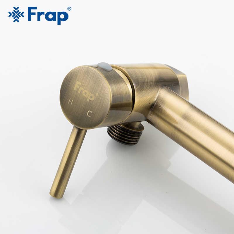 Kit de rociador de ducha FRAP Bidets grifo de aerógrafo mezclador caliente y frío kit de rociador de inodoro bidet rociador de ducha de bronce