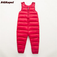 AGKupel 2017 Baby Thick Warm Pant Bebe Clothes Winter Children Clothing Kids Duck Down Baby Trousers