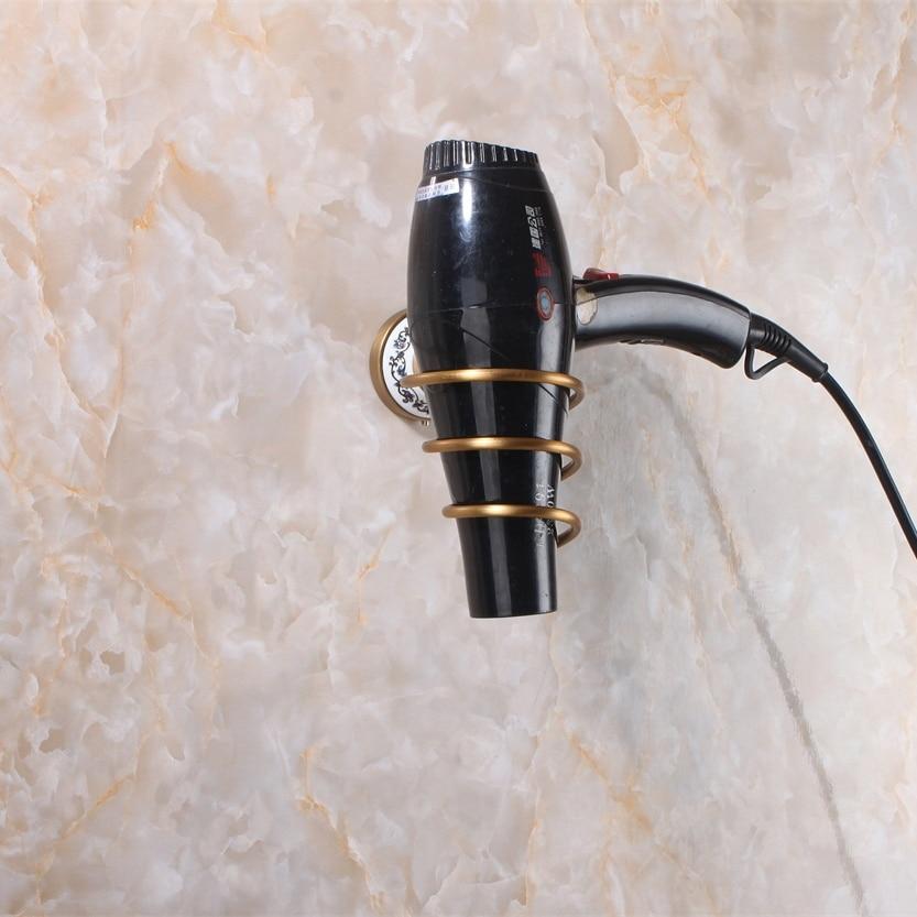 Полки для ванной настенный держатель фена стойки античная латунь фен Аксессуары для ванной комнаты хранения Полки 9072 К