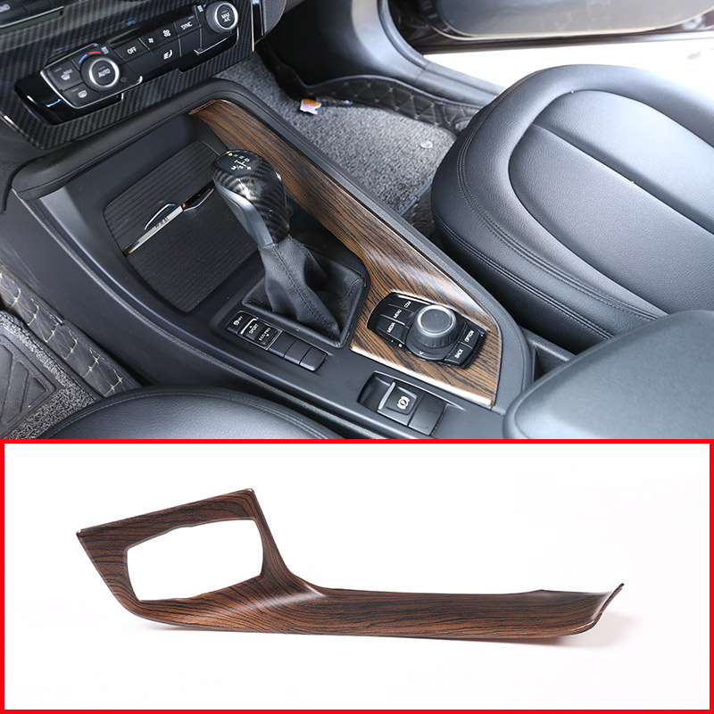 Pine Wood Grain ABS Plastic Car Central Control Multimedia Panel For BMW X1 2016-2018 For BMW X2 F47 2018 Car Accessories