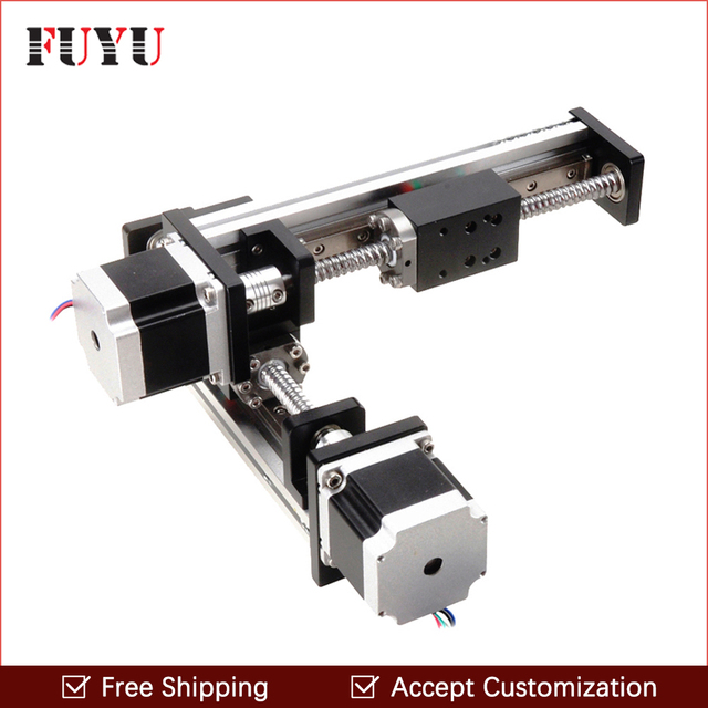 free shipping 100x100mm stepper motor drive xy linear table for