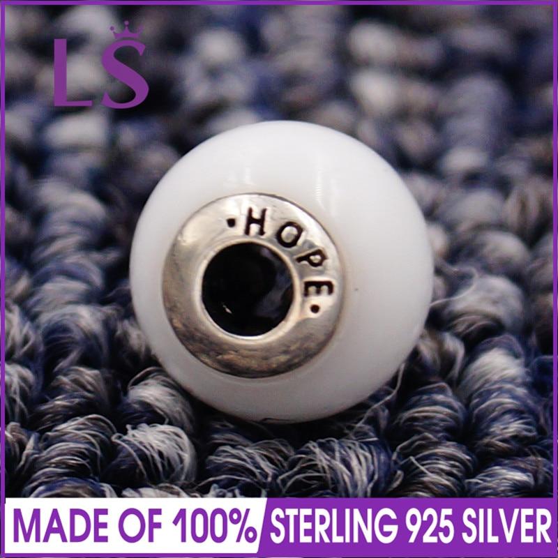 LS High Quality 100% S925 Silver Essence Hope Charm Beads Fit Original Essence Bracelets Pulseira Essencia. Real Fine Jewlery
