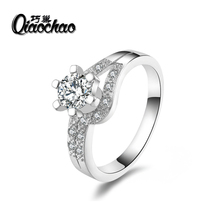 anel engagement ring wedding rings for women wedding band cz Silver jewelry zirconia jewellery wholesale feminino aneis R55