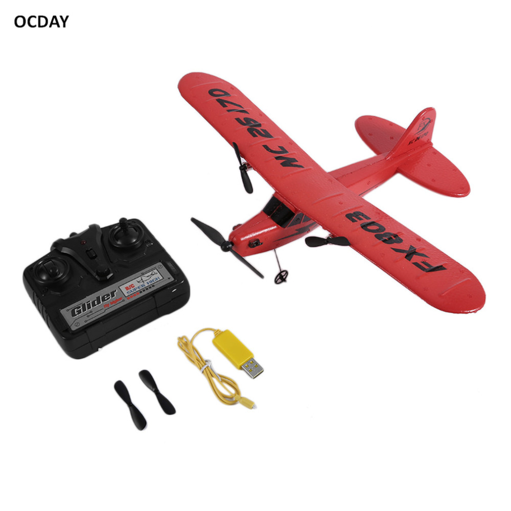 OCDAY FX803 Remote Control RC Plane Glider Aerodone Toy Children Audult 150m Foam Airplane Red Blue Battery RC Drones image