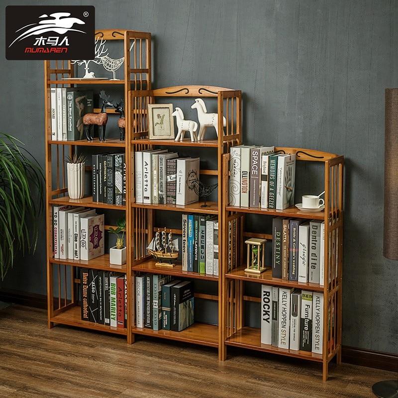 Solid Wood Bookshelf Elegant Book Display Rack Standing