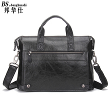 Men 's Briefcase Leather Leisure Business Bag Large Capacity Shoulder Messenger Bag Handy Men' s Bag Handbag Designer