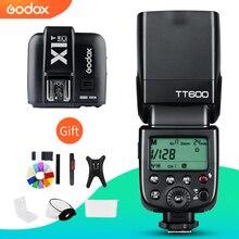 Godox Flash de cámara inalámbrica TT600 2,4G, transmisor Speedlite + X1T C/N/F, disparador de Flash inalámbrico para Canon, Nikon, Fujifilm, Olympus
