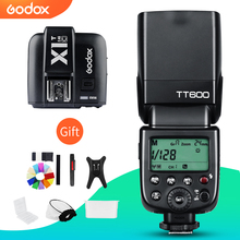 Godox TT600 2.4G kablosuz kamera flaş Speedlite + X1T C/N/F verici kablosuz flaş tetik Canon Nikon için fujifilm Olympus