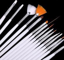 1set(15pcs) nail art pen manicure tools finger nail color drawing brush (B036)