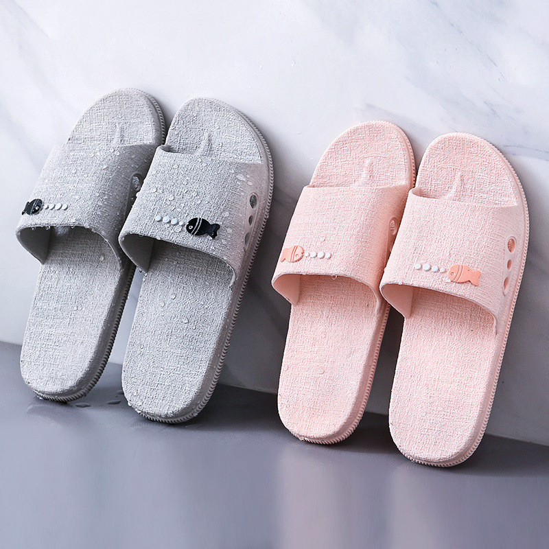 Women's new cool slippers, men's home summer shoes, women's anti-skid men's home bathroom, home slip