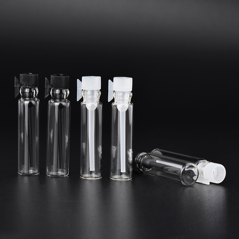 1ml (50 Pieces/Lot)  Glass Vials Small Empty Laboratory Bottles Perfume Liquid Oil Fragrance 50pcs plastic ldpe squeezable dropper bottles eye liquid empty new 88 hjl2017