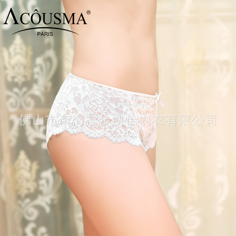 257ef5a0b88cf White Panties Sexy Lace Briefs Seamless Sheer Underwear Women Plus Size XXL  Lingerie See Through Boxer 2pcs Lot Silk Knickers on Aliexpress.com