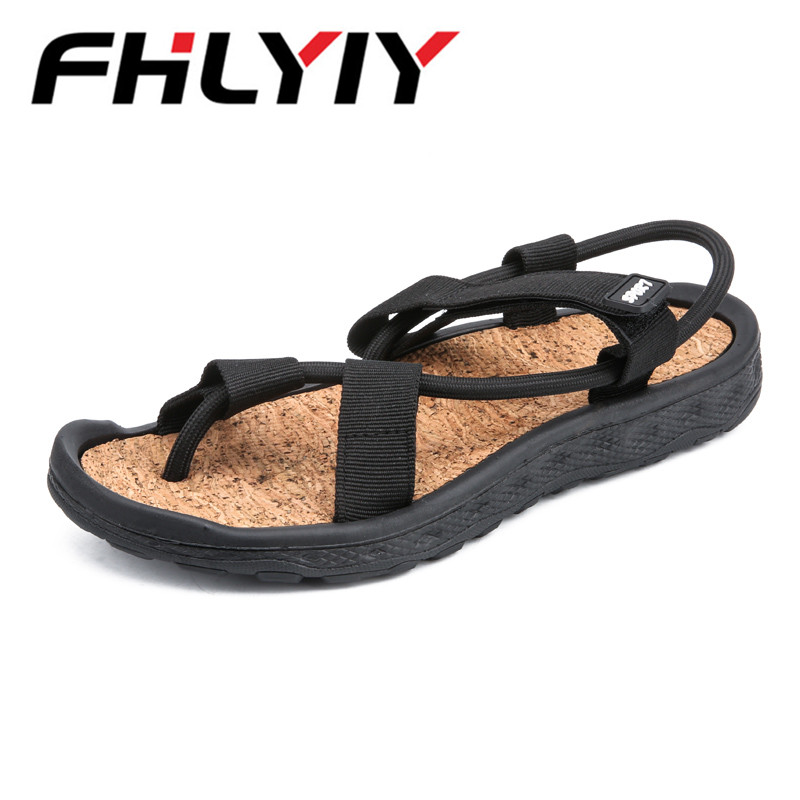 Men Fashion Sandals New Fashion Hook-Loop Sandals Men Casual Shoes Comfortable Light Flats Zapatos Plus Size 45 Zapatos Hombre