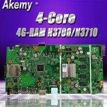 Akemy X540SA материнская плата для ноутбука ASUS VivoBook X540SA X540S X540 F540S Тесты Оригинал материнская плата 4G-RAM N3700/N3710 4-Core Процессор