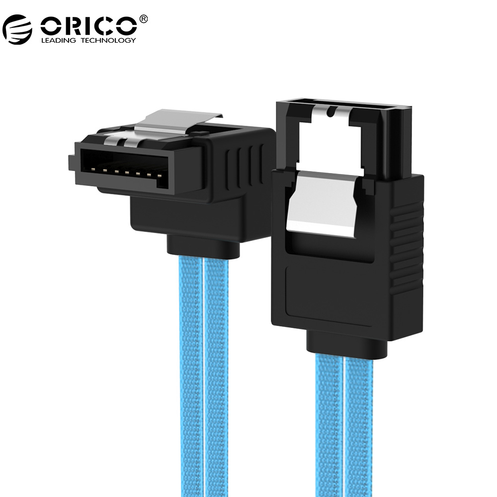 ORICO CPD-7P6G-BA60-V1 Serial SATA 3.0 DATA Cable SAS Cablewith Locking Latch 6 Gbps 60cm orico original sata3 0 four set sata data cable sas solid ssd hard line black cpd 7p6g bw904s v1