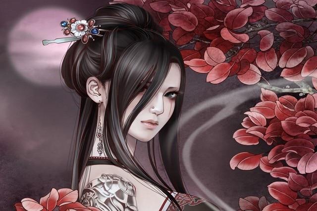 Asiatische Bilder Auf Leinwand leinwand poster asiatischen orientalischen frauen frauen mädchen