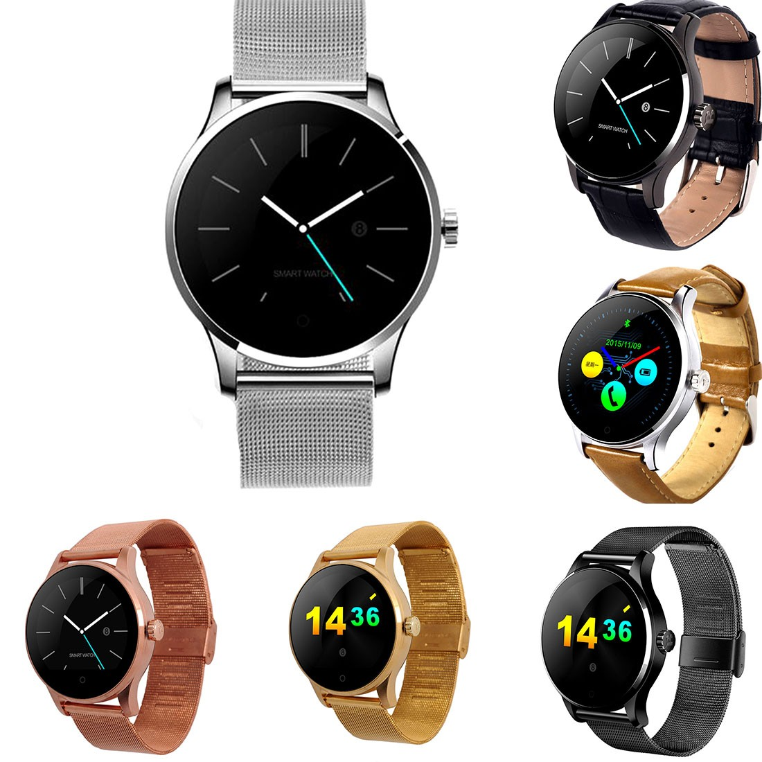 For Lemfo K88H Smart Watch IPS Round Screen Support Heart Rate Monitor Bluetooth smartWatch For apple IOS Android bluetooth smart watch heart rate monitoring g3 plus smartwatch support siri voice control raise bright screen for android ios