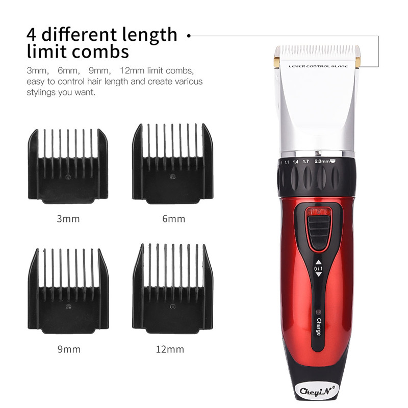 12W Professional Electric Hair Trimmer 1500mAh Rechargeable Battery Cordless Hair Clipper Ceramic Blade Hair Cutting Machine P49