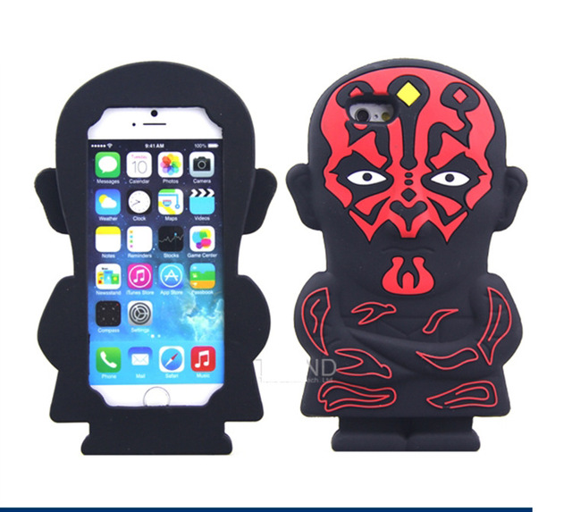 3D Star Wars Soft Silicone Cover Cases For iPhone