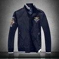 2016 Marca aeronautica militare hombres chaqueta, chaquetas para los hombres Gabardina Resorte de la Fuerza Aérea militar del ejército Chaquetas jaquetas