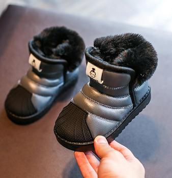 2019 Winter Baby Girl Boy Snow Boots Warm Plush Outdoor Children Boots Waterproof Non-slip Good Quality Kids Boots Infant Shoes