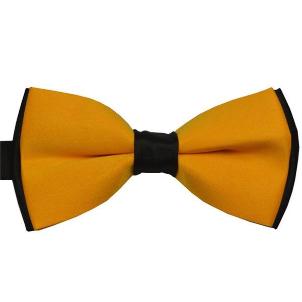Бренд, 11 цветов, галстук-бабочка, модный мужской галстук-бабочка, деловой, деловой, Свадебный, черный/красный/фиолетовый/желтый/розовый галстук-бабочка - Цвет: Цвет: желтый