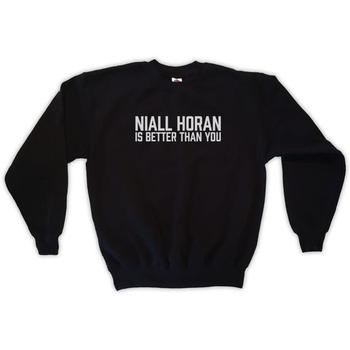 Sugarbaby Niall Horan Is Better Than You Sweatshirt Unisex Fashion Tumblr Sweatshirt Crew Neck Jumper Long Sleeve Casual Tops crew neck crop sweatshirt