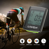Lixada 2 in 1 Large Screen Bicycle Computer Wireless LCD Bicycle Cycling Computer Speedometer Odometer Rainproof Stopwatch
