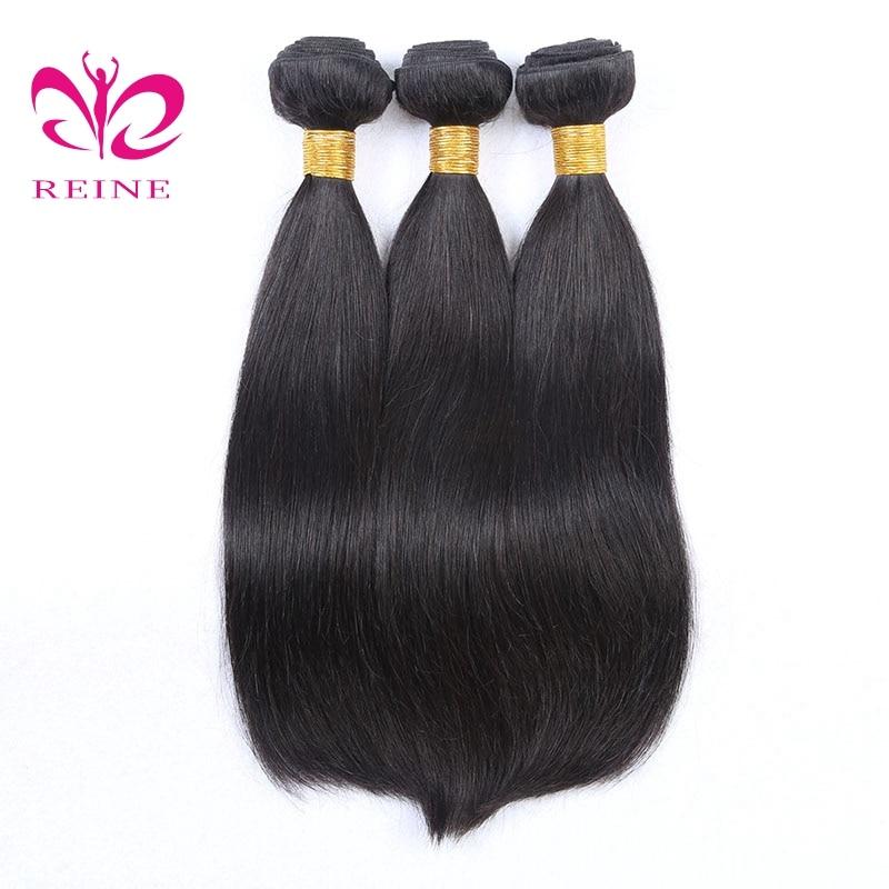 Reine Malaysian Straight Hair Bundles 100% Human Hair Weave 8 to 30 Inches 3 Bundles Deals Human Hair Extension none remy