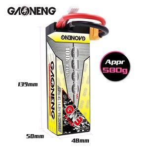 Image 2 - Gaoneng GNB 6500mAh 4S 14.8V 100C/200C Hardcase LiPo סוללה XT90/XT60/דיקני תקע עבור 1:8 1/8 RC רכב ארבעה כונן מחוץ לכביש RC רכב