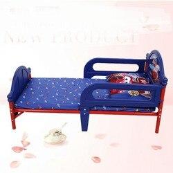 Crianças Cama da Mobília dos miúdos de plástico + de metal crianças cama iluminada enfant bebê ninho muebl moveis casa Mobiliário minimalista 135*75*46.5 cm