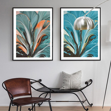 Gohipang Modern Green Leaves Tropical Plants Wall Art Prints Canvas Paintings Nordic Pictures Poster Living Room Home Decorative