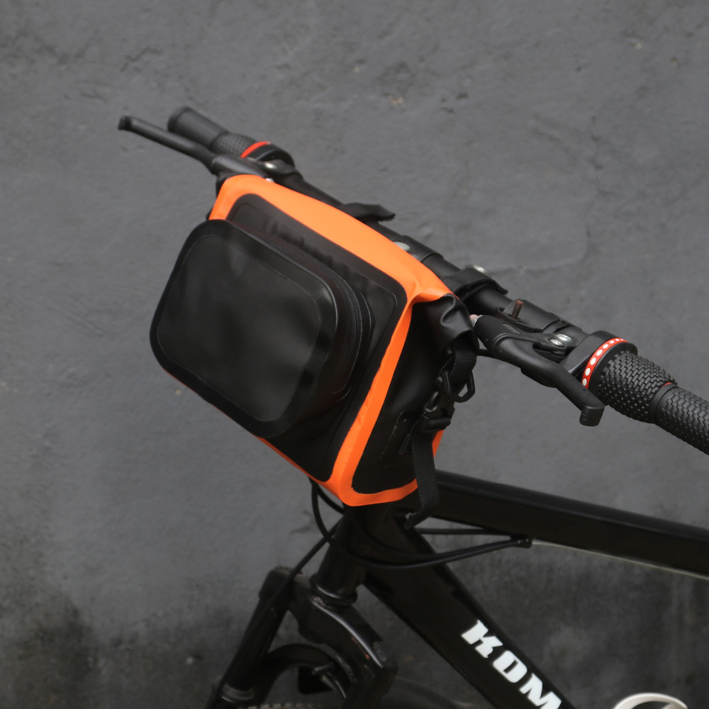 Bike Handlebar Bag Bicycle Pannier Front Tube Basket Outdoor Cycling Reflective